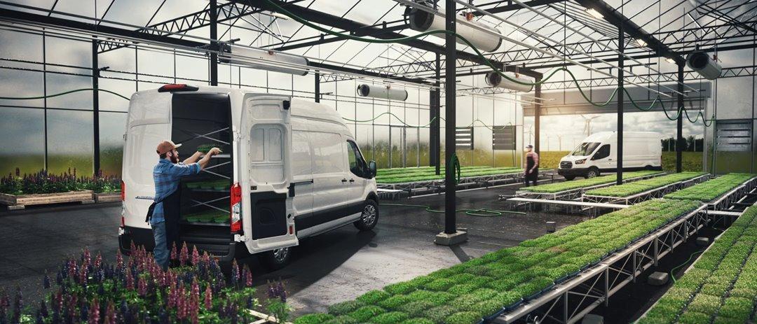 E-Transit indoors zero emission